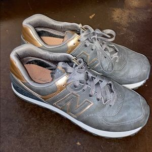 Grey and Rose Gold New Balance